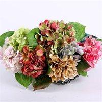 "Fake Single Stem Hydrangea 16.93"" Length Simulation 3D Printing Hydrangeas for Wedding Home Decorative Artificial Flowers"