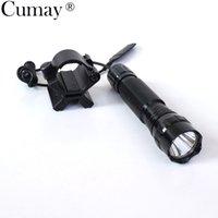 Torce torce a una modalità 3800LM XML T6 LED Tactical 18650 Torcia Torcia Lamparale Linternas per caccia all'aperto + magnetico X Portaintro da pistola