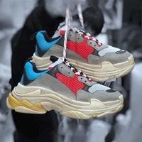 Designer luxo 17fw triplo s mulheres homens casuais sapatos lançamento trilha 3 .0 tess gomma maille triplo plataforma triplo s tênis