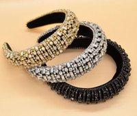 Hot Barok Glas Crystal Hair Band Grote Rechthoek Diamant Mode Designer Haar Ornament Rhinestones Dames Hoofdband