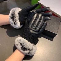 Vintage Lace Women Sheepskin Gloves Classic Fashion Ladies F...