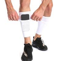 الكوع الركبة وسادات واقية الجوارب مع جيب لكرة القدم لكرة القدم شين الأكمام الساق دعم الوسادة الاطفال الكبار