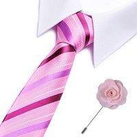 Mens Cravatte a righe Slim cravatta di lusso Bowtie business matrimoni Paisley Corbatas partito Gravatas legame del collo degli uomini di modo Cravatte
