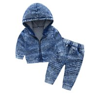+ calças novas roupas de criança bonito terno de brim 1 2 3 4 anos do menino da criança outono menina jaqueta de moda jeans menino