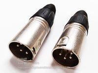 고품질 마이크 XLR 4 극 4 핀 남성 MIC 플러그 스피커 어댑터 커넥터 / 무료 배송 / 10PCS