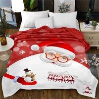 المنسوجات المنزلية رمي بطانية سانتا الثلج الفانيلا الصوف المفرش الفيل لحاف 150 * 200CM الجديدة 3D بطانية السرير أغطية السرير عيد الميلاد
