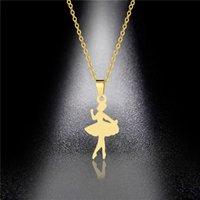 Versión coreana de la de baile linda collar femenino del bailarín de ballet de acero de titanio collar de cadena de clavícula