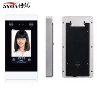 Dispositivo TCP IP Reconhecimento Facial acesso Controle Dinâmico Wifi Sistema Touch Screen Facial cartão perfurado Presença câmera HD de 4,3 polegadas