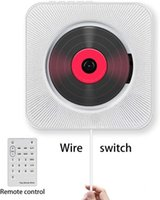 Jogador CD player, Wall-Mounted Bluetooth Home Home Boombox Com Controle Remoto FM Radio Built-in Hifi Speakers USB MP3