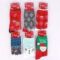 Femmes Chaussettes Hiver Rouge Chaussette de Noël mignon Elk cerf chaussettes de coton chaud fille Gardez bébé garçon doux Socks Sea Shipping IIA616