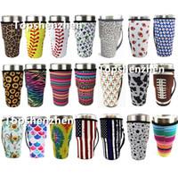 21 estilo de la botella reutilizable de béisbol taza de café de la manga Cactus agua del caso de la cubierta de la cubierta de neopreno manga con aislamiento bolsa de los bolsos de 30oz Vaso Copas