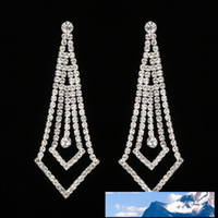 Diamond Earrings Woman Long Fund Temperament Eardrop Exagger...