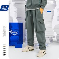 INFLATION Loose Fit Men Sweatpants In Pure Color 2020 Autumn...
