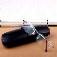 نظارات شمسية نظارات بدون شفة التيتانيوم القراءة الرجال خفيفة مريحة مضادة للتعب أزياء أنيقة السراويل النساء