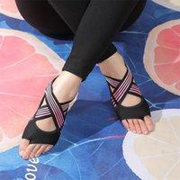 Women's Anti-Slip Fitness Dance Pilates Socks Professional Indoor Yoga Five Toe Backless Exercise Ballet Lady Training Accessory