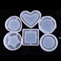 Molde de silicone DIY cristal Epoxy Silicone Mold Plum Blossom Cinzeiro Mold Jóias Container Mão Artesanato Ferramentas 6 Designs opcionais BT654