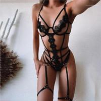Fijaron a las mujeres 2pcs de la ropa interior de bikini mujer atractiva de la ropa interior con paneles conjunto vendaje Diseñador de tres puntos Tipo atractivo