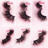 25mm Lashes 3D echter Nerz-Haar-falsche Wimpern dick lange Wispy Fluffy Wimpern 25mm Nerz Wimpern natürlicher langer 3d Nerz Wimpern