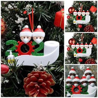 2020 Quarantine Ornamente Baumschmuck Harz-Gesichtsmaske Schneemann-Familie Hanging Weihnachtsmann Geschenk Multi Styles 10 5hm H1