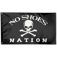 3x5ft Black Нет Обувь Nation Flag, 100D полиэстер Пользовательские баннеры висячие Реклама Пользовательские 3x5ft Крытый