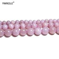 Outros pérolas de Kunzites redondo pedra roxa natural para jóias fazendo bracelete DIY Colar 6/8/10 / 12 mm Strand