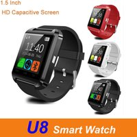 Bluetooth U8 Smart watch Wristwatches Touch Screen For IOS Android Phone Sleeping Monitor Smart bracelet wristbands With Retail Package