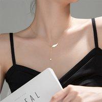 2020 Корея крыла ангела Шарм ожерелье для женщин Мода Золото Серебро Цвет цепи Стразы кисточкой кулон ожерелья Ювелирные изделия