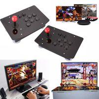 2Pin Kabel PC Arcade Joystick Acrylic Panel-Kasten USB-Kabel Encoder Brett Drucktasten 6 Farben Unmontiert
