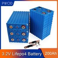 PWOD 16pcs CALB 3.2V 200AH LIFEPO4 Batterie 48V200AH 24V400AH Lithium Eisen Phosphat Packs EV RV Boot Solarzelle EU US steuerfrei