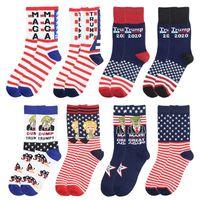 Donald Trump Socks Campagna presidenziale 2020 Make American Great Cotton Mot Cotton Maga Lettera USA Bandiera Calzini Uomini Donne Calze HHA341
