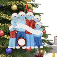 Aile Portreleri Noel Süsler Süslemeleri 2020 Noel Baba Ağacı İşi Kolye Yüz Kalkanı Renk Boyama Hediye 9JS F2
