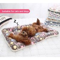 الفانيلا بساط الحيوانات الأليفة الكلب سرير دافئ رشاقته القط الكلب السرير بطانية الجرو النوم تغطية منشفة وسادة للصغير متوسط كبير