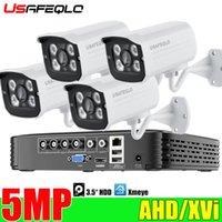 Sistemas USAFEQLO 4CH 2MP 5MP 5IN1 AHD DVR Kit Sistema CCTV 4 PCS Impermeável / Camera Security Surveilance Set Email ALARME