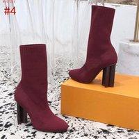 Schuhe der neuen Frauen Bottine SCHATTEN Luxus-Designer-Schuhe 1A5MJK Frauen Knöchelaufladungen der Art und Weise beiläufige hochwertige Größe 35-41