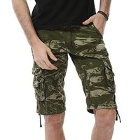 E-Baihui 2020 Summer New Style European and American Men's Overalls Shorts, Multi-pocket Camouflage Plus Size Beach Pants 6603