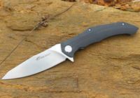 2pcs / Lot Свободный Волк шарика подшипника Flipper Складной нож 9Cr18 сатин лезвия G10 + сталь Ручка КАДРА EDC Карманные ножи