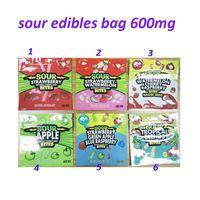 500 мг съедобная упаковка 600 мг Gasheads WeedTarts веревки укусы укусы гамми Видимость конфеты голографическая сумка с кислом запахом