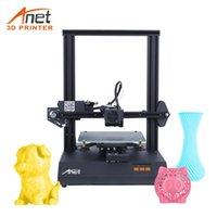 Stampanti Anet ET4 Pro Stampante 3D Ultra Tranquillo DAINBOARD TMC2208 Driver 2.8in Resume touchscreen Stampa Filamento Rilevamento del filamento Livellamento automatico