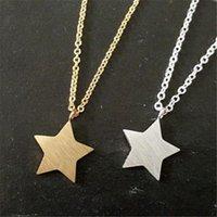 Collane pendenti splendidi fiamma moda oro argento colore acciaio inox stella di charme con collana a catena lunga per le donne