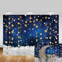 Materiale di sfondo Twinkle Stella Stella Backdrop Galaxy Starry Sky Pografia Born Birthday Portrait Backdrops Po Studio