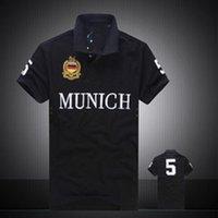 Erkek Modası ince rahat polo t shirt için yüksek kaliteli nakış tasarımcı şehir polo t shirt