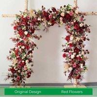 사용자 정의 인공 꽃 벽 결혼식 배열 아치 꽃 결혼 가정 장식 행 테이블 중심 꽃다발