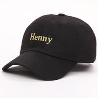 VORON 2020 nuovo marchio Henny cappello del ricamo di papà uomini donne slouch Berretto da baseball in cotone curva disegno di legge fibbia regolabile RETRO ESTATE