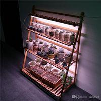1FT 2FT 3FT T8 LED coltiva le luci per Flower Scaffale, doppia fila T8 crescere tubo Striscia Bar per piante grasse Fiore Mensola Full Spectrum con UVA