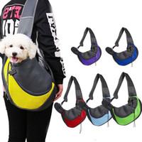 Haustierenträger Umhängetasche Hund Tote Tragbare atmungsaktive Handtasche Haustiere Front Taschen Mesh Kopf Auszug Schlinge Outdoor Puppy Carriers YFA2551