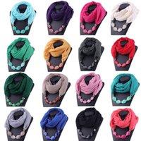 Hattar, halsdukar handskar uppsättningar multi-stilar av dekorativa smycken halsband harts pärlor hängsmycke halsduk damer ull huvuddukar hijab etnisk stil