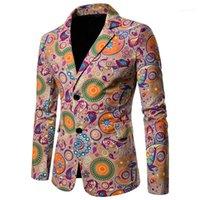Sonbahar Kış Tasarımcı Keten Takım Elbise Plus Size Çok Renkli Yaka Boyun Tek Breasted Homme Coats Moda Casual Erkek Ceket Erkek