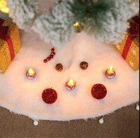 긴 털이 봉제 크리스마스 트리 스커트 모피 크리스마스 트리 매트 백설 공주 카펫 담요 둥근 바닥 커버 2020 파티 크리스마스 DecorationLY9271