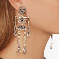 Kvinna designer örhängen diamant dangle droppe fel halloween stora örhängen lyx trendiga smycken hip hop mode charms bling tillbehör