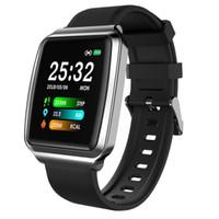 KY116 Смарт Часы Фитнес Tracker Браслет Полный сенсорный экран контроля Спорт SmartWatch водонепроницаемый давления сердечного ритма крови